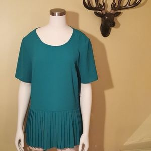 💕 Lord & Taylor Blouse, Green, size large
